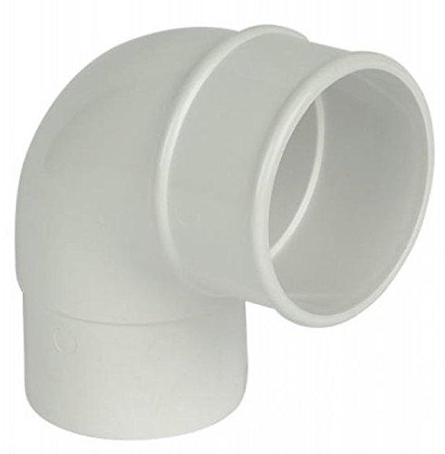 FloPlast 68mm a gomito per tubi tondi e grondaia 92,5gradi, colore: bianco