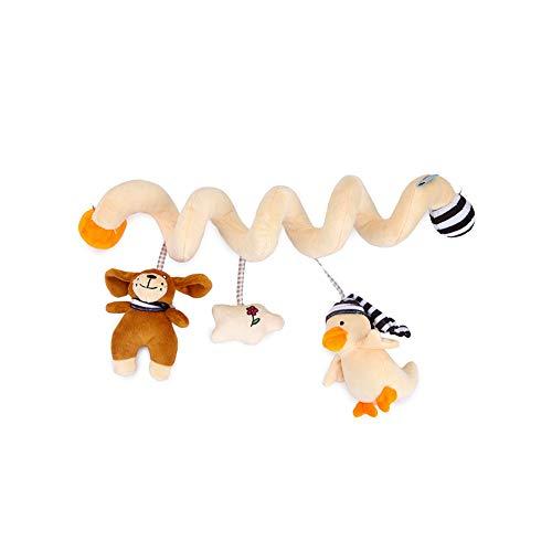 Kinderwagen Music Around Toy Bett Glocke Spielzeug Netter Plüsch-Tiere-Anhänger-hängendes Spielzeug für Baby-Ausbildungs-Spielzeug-Spiral Wrap Around Krippe Bett (Krippe Neben Dem Bett)