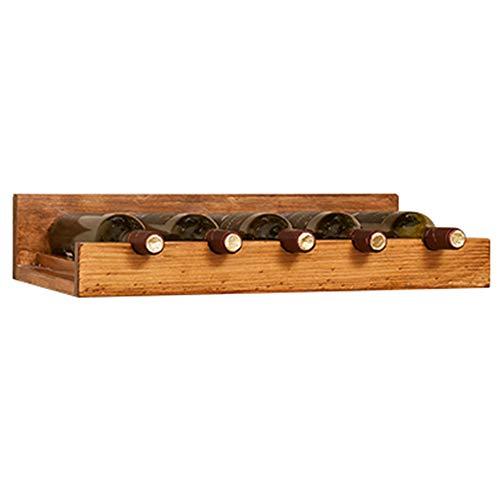 YANZHEN Weinregal Wandmontiertes Küchenablage-Regal Do The Old High Capacity Moisture Proof Solid Wood, 4 Styles (Farbe : Beige, größe : 60x30x12cm) -