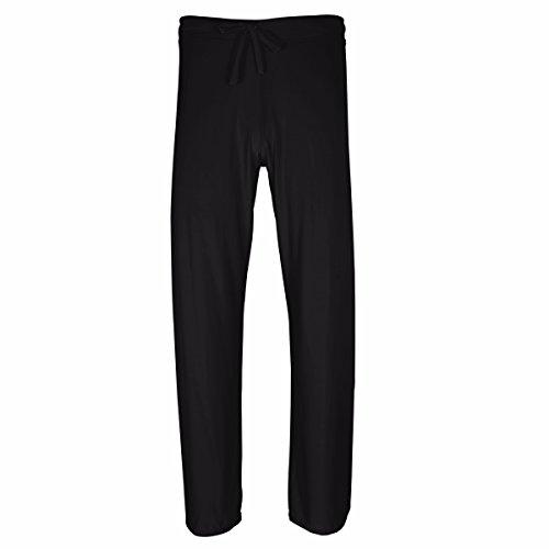 iiniim Herren Leggings Elastische Yoga Hose Sporthose Transparent Tights Pants Reizwäsche Unterwäsche S-XXL Schwarz L (Elastische Herren-pants)