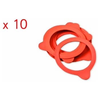 10 x Weck 100mm Rubber Seals / Rings