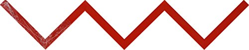 Duraline shelving mensola zig-zag, legno, rosso, 12x 59x 12cm