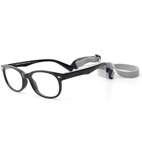 Gaodaweian Kinder Silikon Brille Flexible Kinder Brillengestell mit Brillenband für Jungen Mädchen