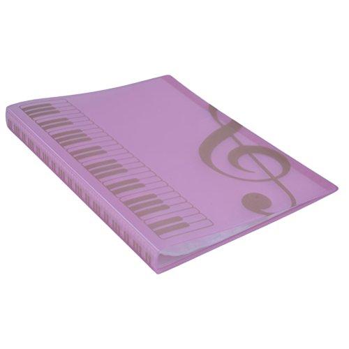 ULTNICE Musik Datei Ordner Organizer Papier Dokumente 40 Taschen Blatthalter
