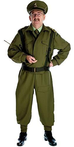 Fancy Me Herren 1. Weltkrieg WW2 1940s Jahre Bürgerwehr Armee Streitkräfte Militär Kostüm Kleid Outfit M-XL - Grün, ()