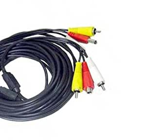 15M 15 Meters RCA Video/Audio CCTV Extension Cable for Home & Office Security camera
