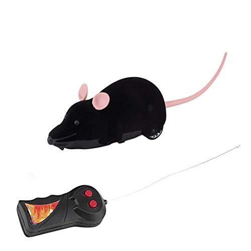 mxdmai Drahtlose Fernbedienung Ratte Spielzeug Lustige Batteriebetriebene Maus Spielzeug für Katzen Hunde Haustiere und Kinder (Katze Spielzeug Batteriebetriebene)