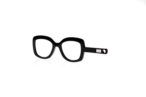 Handbrille Schindelberg, Neuheit, Lesehilfe für modebewusste Frauen, Farbe Night Black, 2.5 dpt