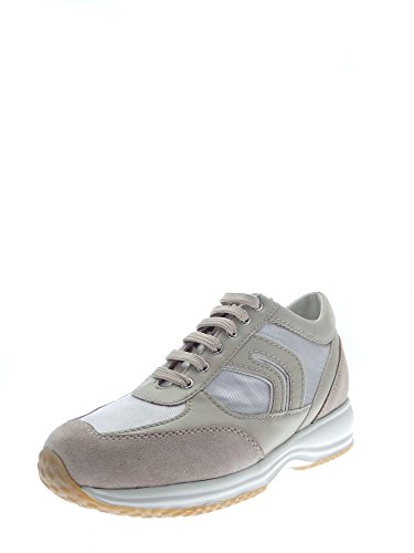 Geox D8356R0AS54 Sneakers Damen Leder Ly Grey/skin