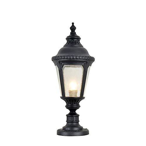 Pillar Light EuropäIsche Outdoor Sand Black Column Lampe Aluminium-Druckgussfarbe Wasserdicht Rostfrei Garten Licht Landschaft Licht