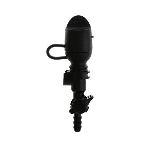 Baoblaze Válvula de Mordida para Bolsa de Agua con Tapa Antipolvo Hidratación para Senderismo Ciclismo Aire Libre - Negro Recta