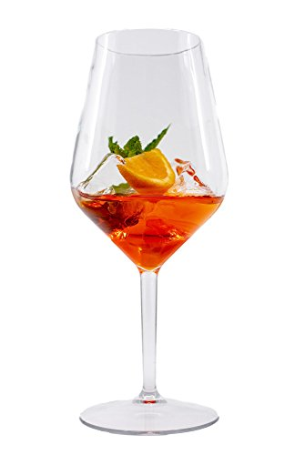 Stylgs hochwertige Tritan Weingläser Plastik | Unzerbrechlich Mehrweg Plastik Rotweinglas | Ideal für Camping Party Picknick | BPA-freie Plastikweingläser im 6er Set