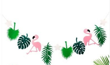 Romote Tropische Partydekorationen, Flamingo Ananas Banner für Raumdekoration Hawaiian Summer Birthday Party Supplies von Shell Case (4 Strings
