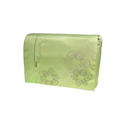 Golla Basic Laptop Bag 16, GABI Lime Green + Flower Print, G1034 (Lime Green + Flower Print)