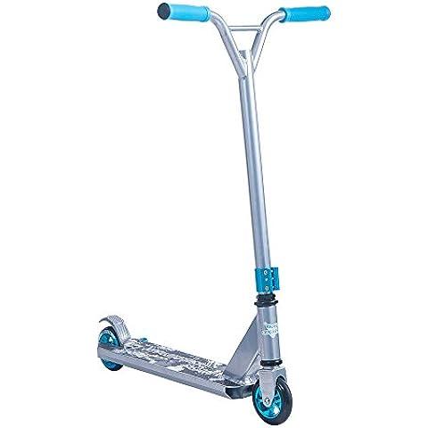 Rocket conejo® patinete para interior y exterior para Scooter Pro Kick/empuje 360giro trucos calle edición, plata