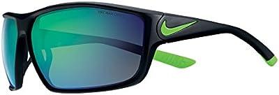 Nike encendido R Gafas De Sol En Mate Negro Verde Espejo ev086700368