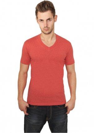 urban-classics-melange-v-neck-tee-tb368-s-red