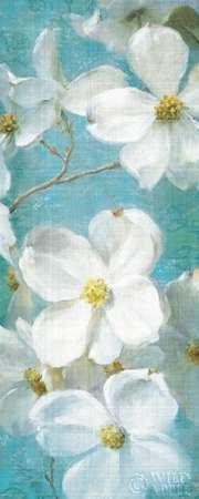 Apple Dekorativen Platten (Feelingathome-Leinwand-Bild-Indiness-Blossom-Platte-Jahrgang-II-cm96x38-Kunstdruck-auf-Leinwand)