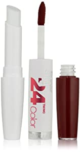 Maybelline New York Superstay 24, 2-step Lipcolor, Everlasting Wine 005, 2 pack