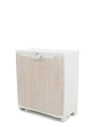 Plastiken Medio Armario SPACE SAVER 90cm con 2 estantes metálicos con puertas imitación...