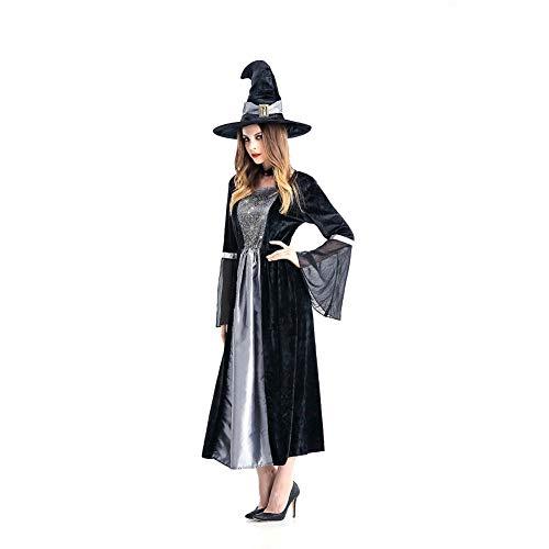 TIANFUSW Herrin Hexenkostüm Hexe Sexy Halloween Kostüm für Frauen, M