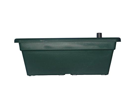 Jardinera Terra con autorriego, color verde, 40 cm