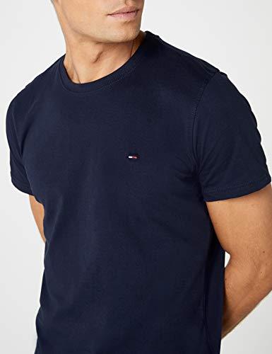 Hilfiger Denim Herren T-Shirt Original cn knit s/s, Gr. Large, Blau - 4