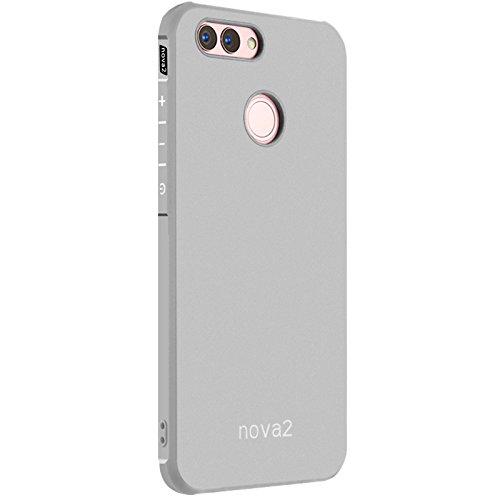 Preisvergleich Produktbild Huawei nova 2 Case -Tianqin Weiche TPU Huawei nova 2 Cover [dünn][tragbare][Anti scratch][Stoßdämpfung] [Langlebig]für Huawei nova 2 Gehäuse - Grau