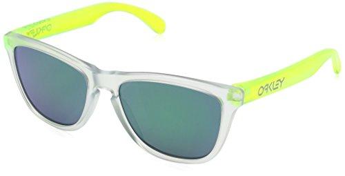 Oakley Herren Frogskins 9013B4 55 Sonnenbrille, Weiß (Matte Clear/Jadeiridium),