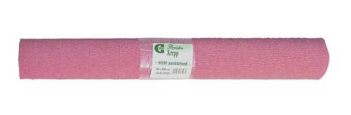 Krepp-Papier pastell-rosa B50cm x 250cm 1 Rolle (Rosa Krepp-papier)