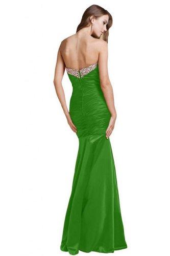 Sunvary Sexy in stile sirena raso per abiti da sera, motivo: Tesoro Verde