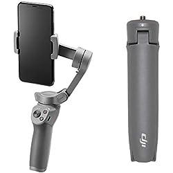DJI Osmo Mobile 3 Combo - Stabilisateur de Cardan 3 Axes Compatible avec iPhone et Smartphone Android, Design Léger et Portable, Prise de Vue Stable, Contrôle Intelligent + Trépied