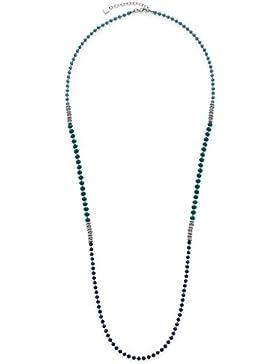 Leonardo Jewels Damen Halskette Corbara Edelstahl Glas grün 90 cm 016381