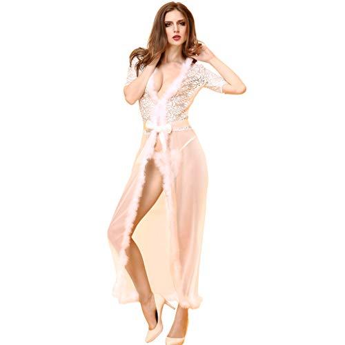 Europa und Amerika Sexy Unterwäsche Langer Schal Nachthemd Große Transparente Sexy Pyjamas (Farbe...