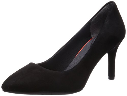 Rockport Total Motion 75mm Pointy Toe Pump Plain Pump, Escarpins femme Noir - Schwarz (BLACK KID SUEDE)