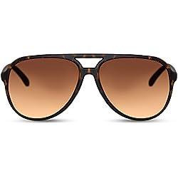 Cheapass Gafas de Sol Grandes Modernas Gafas Marrones Montura Marrón Para Chicos y Hombres. Protección UV400