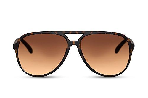 Cheapass Gafas Sol Grandes Modernas Gafas Marrones