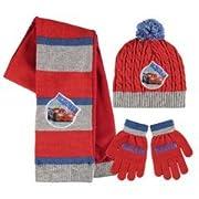 Disney Cars - Set 3pz Inverno Cappello Sciarpa e Guanti - Bambino Saetta