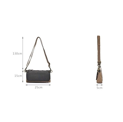LF&F Retro Hochwertigen LeinwandDamen Freizeit Diagonal PaketUmhäNgetasche Multifunktions Handy Brieftasche Tasche Jeden Tag Verwenden Kleinen Rucksack Schultergurt Einstellbar C