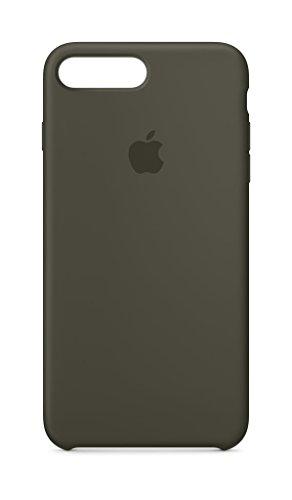 Apple iPhone 8 Plus Silikon Hülle, Dunkeloliv