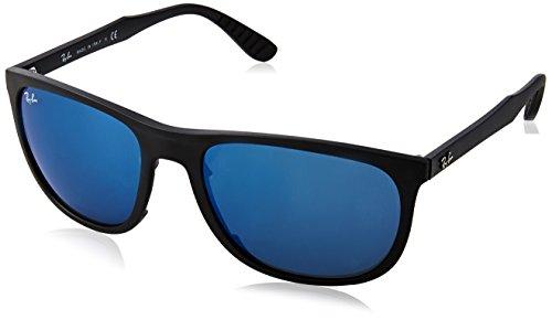 Rayban 0rb4291 601s55 58, occhiali da sole uomo, nero (matte black mirror blue)