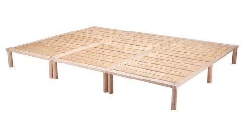 Gigapur G1 29005 Bett, Co-Sleeping, Birke Schicht-Holz, Bettrahmen Belastbar bis 195 kg, Natur, 270 x 200 cm