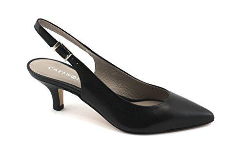 Cafè Noir CAF Noir MC252 Chaussures Femme Noire Dcollet Orteil Sangle Talon de la Chaussure