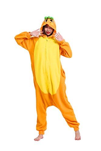 Magicmode Unisex Cosplay Kostüme Kigurumi Tiere Schlafanzug Erwachsene Strampelanzug Anime Hoodie Nachtwäsche Karotte ()
