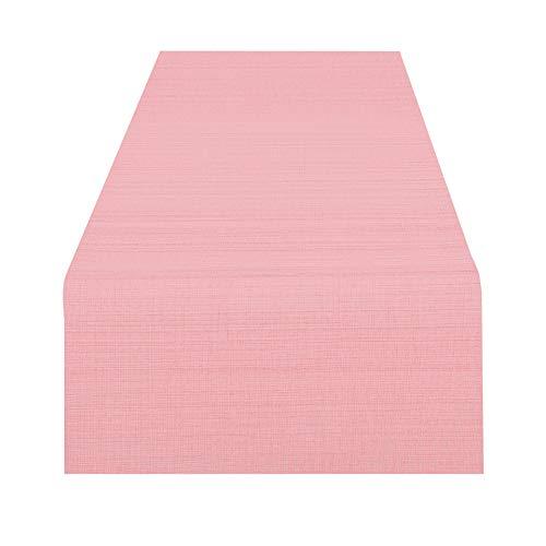 Tischläufer Wien, rosa, 40x140 cm, Fleckschutz, Tischläufer für das ganze Jahr