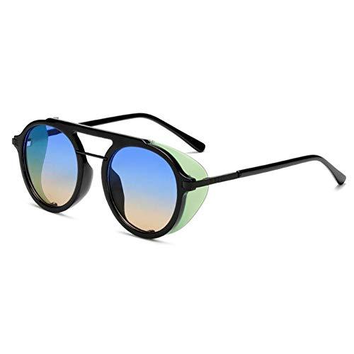 HUILIN Sonnenbrillen Mode Damen Herren Runde Sonnenbrille, 04