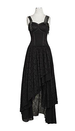 uen Asymmetrische Hem Spitze Matching Do Old Steam Punk Kleid Baumwolle ?rmelloses Kleid, XL (Steam Punk Kleider)