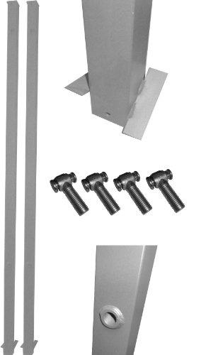 1 Paar Tor-Pfosten Silbern 60x60 mm / Genügend Überlänge zum Ein-Betonieren