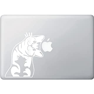 AIRBY Cat - Whatcha Doin? - I Can Haz? - Macbook or Laptop Decal Car Vinyl Decal Sticker WHITE