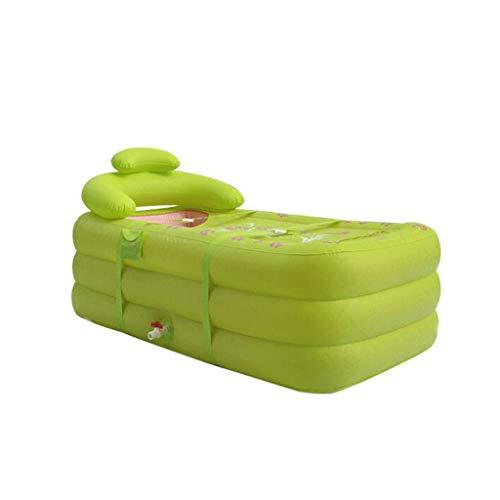 ZCP Aufblasbare Badewanne Für Erwachsene, Tragbares Home Spa, Große Familienkinderpool, Komfortables Bad, Grüne Qualitätsbadewanne